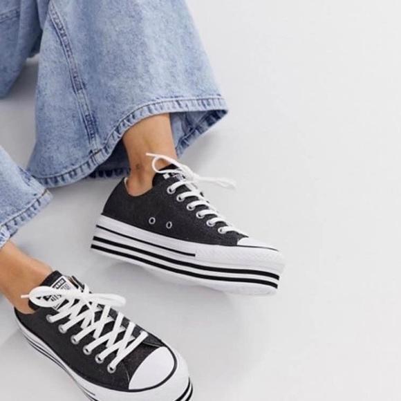 Converse Shoes | Glitter Platform